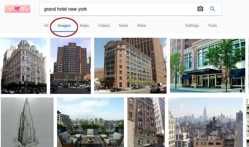 Google Image Search example