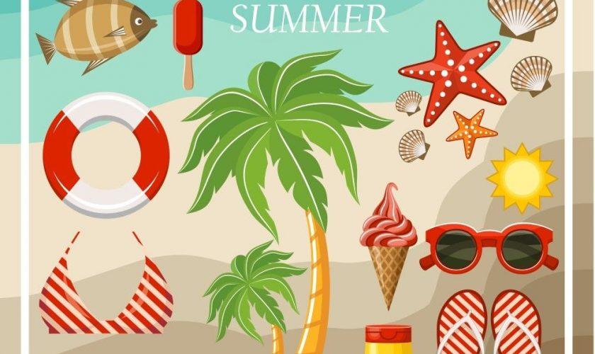 Summer season vector graphics