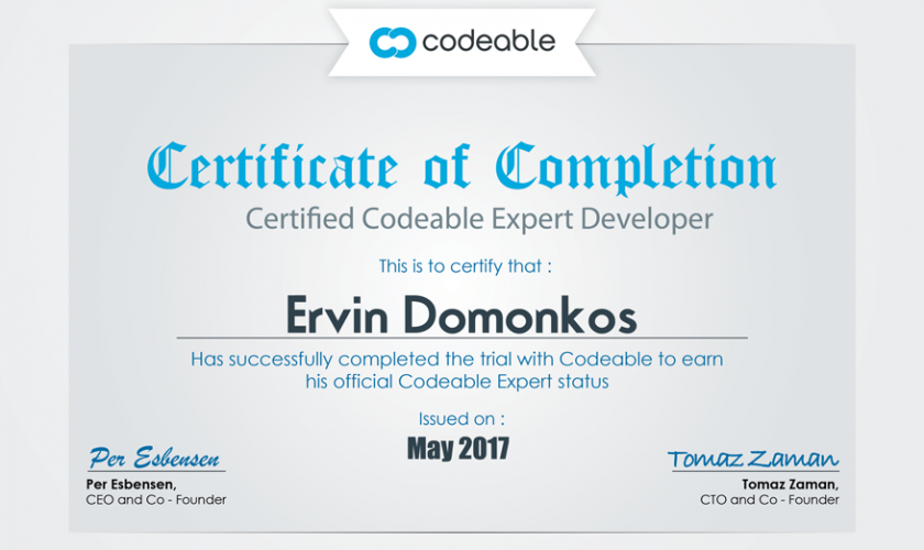 Codeable WordPress Expert Certificate